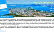 The 2017 International Conference on ADVANCED TECHNOLOGIES FOR COMMUNICATIONS