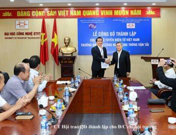 Thành lập chi hội Vô tuyến-Điện tử Việt Nam tại trường ĐH công nghệ Giao thông-Vận tải